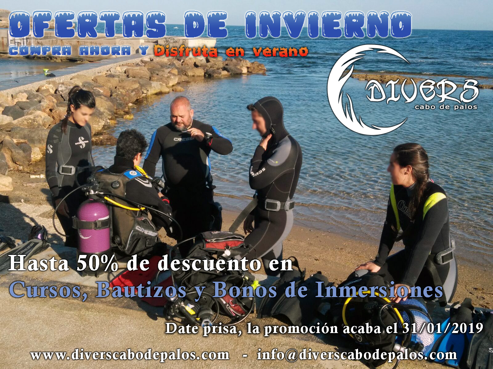 Ofertas de Invierno en Divers Cabo de Palos